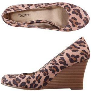 Dexter Leopard Print Wedges